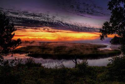 Rhinelander Photograph - Rhinelander Flowage Before Sunrise by Dale Kauzlaric