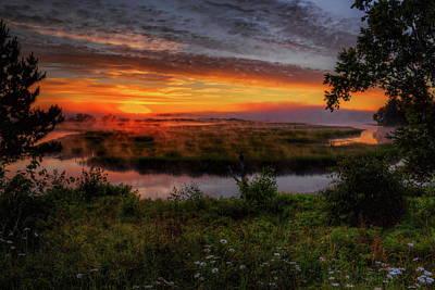 Rhinelander Photograph - Rhinelander Flowage Sunrise by Dale Kauzlaric