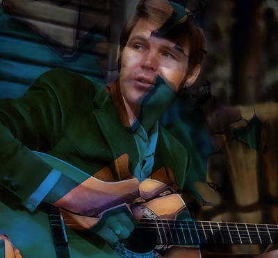 Mixed Media - Rhinestone Cowboy Glen Campbell by Marvin Blaine