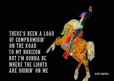 Rhinestone Cowboy Quote Art Print