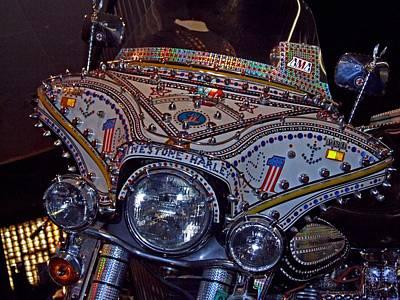 Photograph - Rhinestone Harley by Michiale Schneider