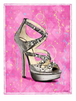 Rhinestone Party Shoe Art Print
