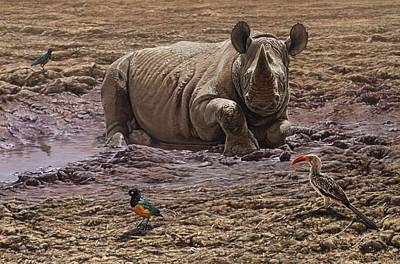 Painting - Rhino by Alan M Hunt