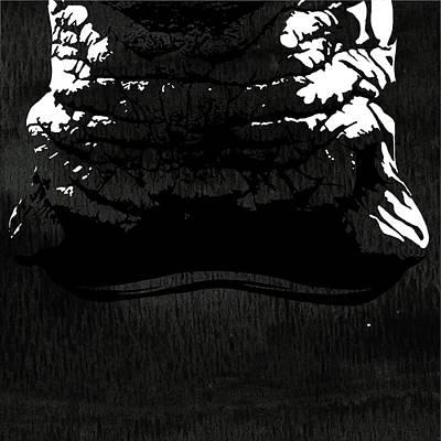 Rhino Animal Decorative Black And White Poster 7 - By  Diana Van Print by Diana Van