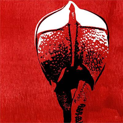 Rhino Animal Decorative Red Poster 6 - By  Diana Van Print by Diana Van