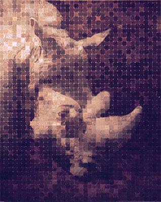 Racei Painting - Rhino N1776 by Yuri Yudaev