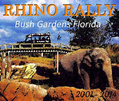 Painting - Rhino Rally 2001 - 2014 by David Lee Thompson