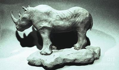 Sculpture - Rhino Sculpture by Stacy C Bottoms