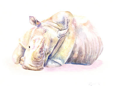 Painting - Rhino Two by Elizabeth Lock