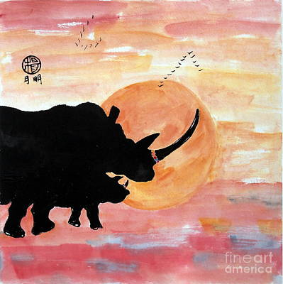 Rhinos At The Ol Pejeta Conservancy Art Print by Ming Yeung