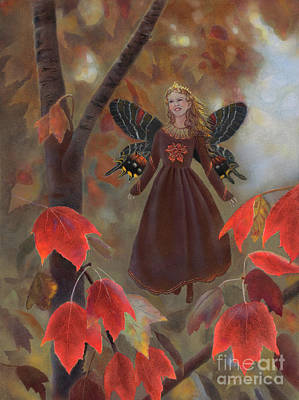 Painting - Rhiona In The Maple Tree by Nancy Lee Moran