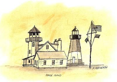 Drawing - Rhode Island At Narragansett by Paul Meinerth