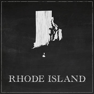 Rhode Island Map Art Print by Finlay McNevin