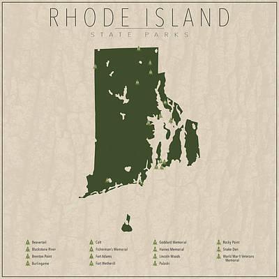 State Of Rhode Island Digital Art - Rhode Island Parks by Finlay McNevin