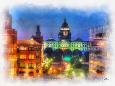 Capitol Building Digital Art - Rhode Island State Capitol by Rick Lloyd