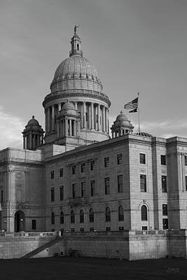 Photograph - Rhode Island State House I Bw by David Gordon