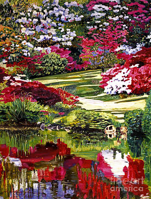 Painting - Rhodendron Reflections by David Lloyd Glover