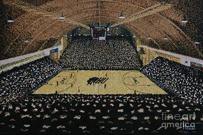 Ncaa Painting - Rhodes Field House by Terry Hester