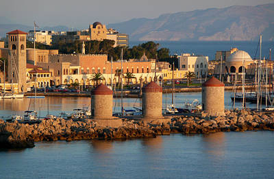 Photograph - Rhodes Harbour 1 by Bruce