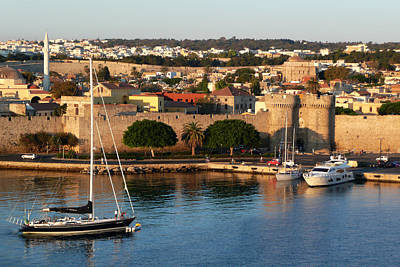 Photograph - Rhodes Harbour 2 by Bruce