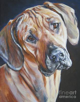 Painting - Rhodesain Ridgeback by Lee Ann Shepard