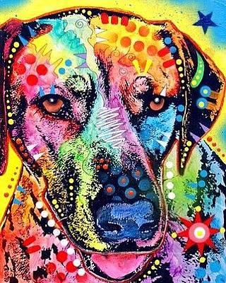 Rhodesian Ridgeback Dog Portraits Painting - Rhodesian Ridgeback by Dean Russo