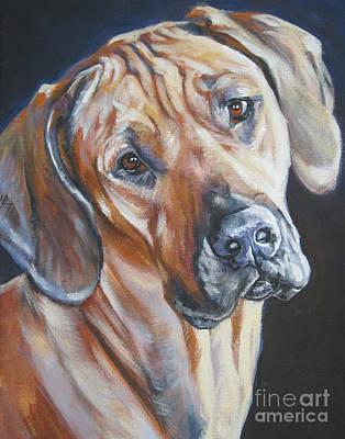 Rhodesian Ridgeback Dog Portraits Painting - Rhodesian Ridgeback by Lee Ann Shepard