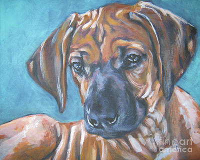 Painting - Rhodesian Ridgeback Puppy by Lee Ann Shepard