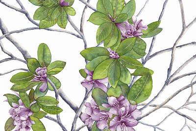 Painting - Rhododendron by Autumn Leaves