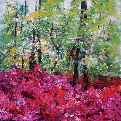 Painting -  Rhododendron Glade Norfolk Botanical Garden 201821 by Alyse Radenovic