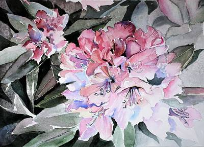 Painting - Rhododendron Rose by Mindy Newman