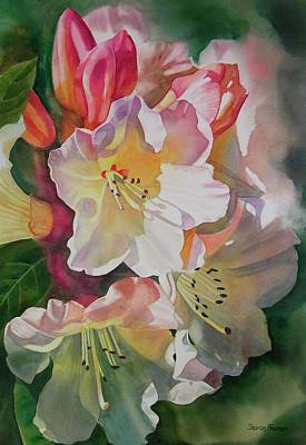 Rhododendron Painting - Rhododendron Shadows by Sharon Freeman