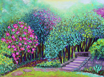 Painting - Rhododendrons In The Sunken Garden by Polly Castor