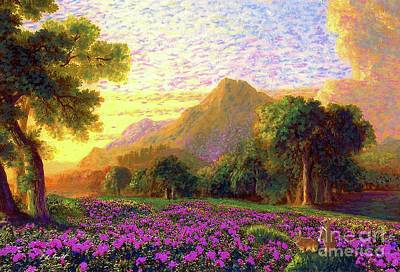 Hawaii Painting - Rhododendrons, Rabbits And Radiant Memories by Jane Small