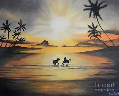 Yvonne Cacy Painting - Rhondas Paradise by Yvonne Cacy