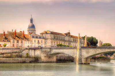 Photograph - Bridge Over The Rhone River, France by Kay Brewer