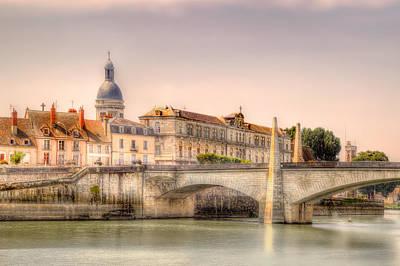 Bridge Over The Rhone River, France Art Print
