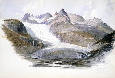 Drawing - Rhone Glacier by John Singer Sargent