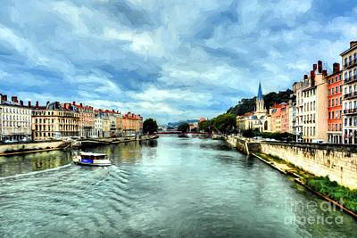 Photograph - Rhone River In France by Mel Steinhauer