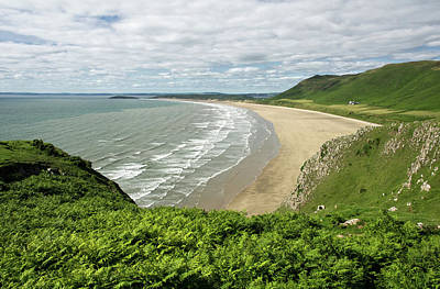 Photograph - Rhossili In The Gower by Pete Hemington