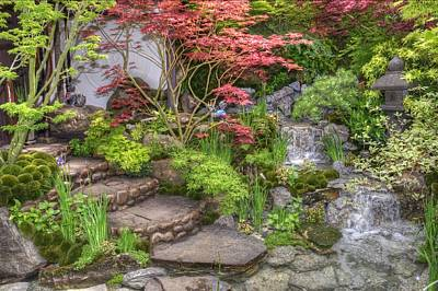 Photograph - Rhs Chelsea Edo No Miwa - Edo Garden by Chris Day