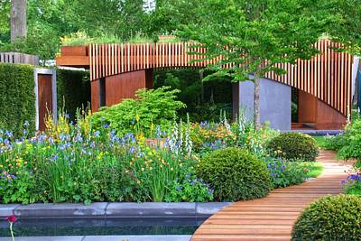 Photograph - Rhs Chelsea Homebase Urban Retreat Garden by Chris Day