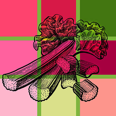 Painting - Rhubarb Quilt by Irina Sztukowski