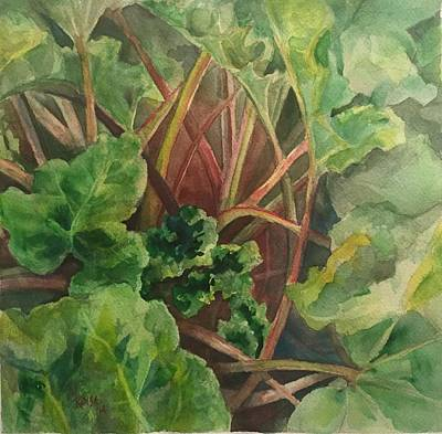 Rhubarb Spy Original by Michelle Roise