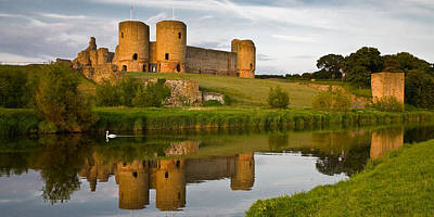 Photograph - Rhuddlan Castle by Peter OReilly