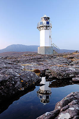 Photograph - Rhue Lighthouse by Grant Glendinning