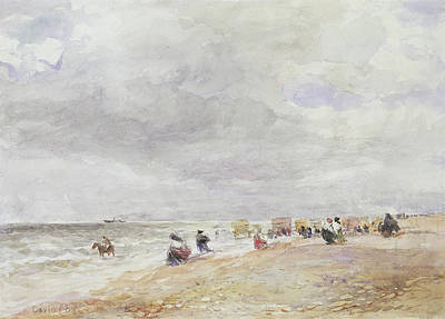 1859 Painting - Rhyl Sands by David Cox
