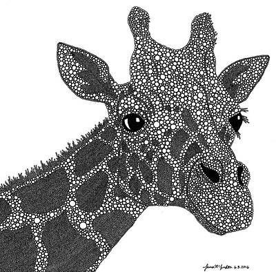 Giraffe Drawing - Rhymes With Giraffe by Laura McLendon