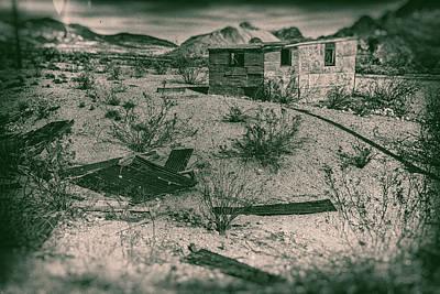 Digital Art - Rhyolite Nevada Ghost Town Shack by Bartz Johnson