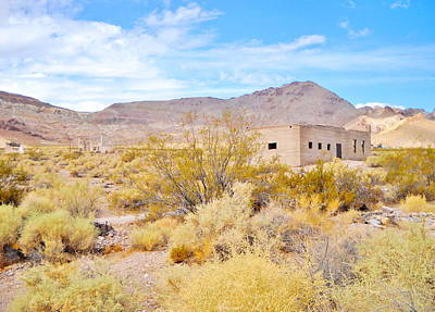 Photograph - Rhyolite Nevada by Marilyn Diaz